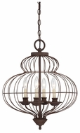 Quoizel LLA5204RA Laila Traditional 19 Inch Diameter Bronze Cage Candle Chandelier