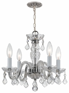 Crystorama 1064CHCLMWP Traditional Chrome Classic Crystal Chandelier
