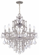 Crystorama 4435CHCLMWP Maria Theresa Chrome Traditional Crystal Candelabra Chandelier
