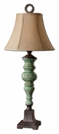 Uttermost 26794 Bettona 39 Inch Tall Crackled Ceramic Table Lamp With Aqua Blue Glaze