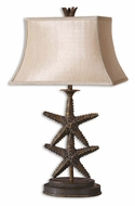 Uttermost 26997 Starfish 30 Inch Tall Coastal Antique Gold Living Room Table Lamp