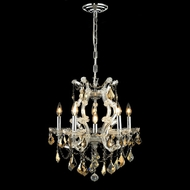 Elegant 2800D20C-GT-RC Maria Theresa Classic Table Chandelier Golden Teak Crystal with Chrome Finish