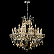 Elegant 2800D30C-GT-RC Maria Theresa Chrome 28  Tall Golden Teak Candelabra Chandelier