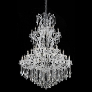 Elegant 2800G54C-RC Maria Theresa Crystal 61 Light Large Chandelier with Chrome Finish