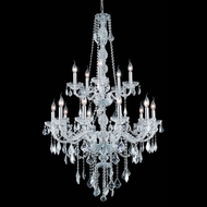 Elegant 7815G33C-RC Verona Traditional Chrome Finish 15 Candle Wedding Chandelier
