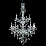 Elegant 7815G33C-GT-RC Verona Chrome 52  Tall Antique Chandelier Lighting with Golden Teak Crystal