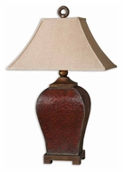 Uttermost 27662 Patala Crackled Deep Red 32 Inch Tall Table Lighting