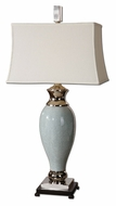 Uttermost 26783 Rossa Crackled Light Blue 39 Inch Tall Transitional Ceramic Table Lamp Lighting