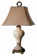 Uttermost 26785 Fobello Distressed Ivory Ceramic Table Lamp Lighting - 29 Inches Tall