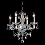 Elegant 7834D17C-RC Princeton Classic Chrome 4 Lamp Candle Holder Chandelier with Crystals