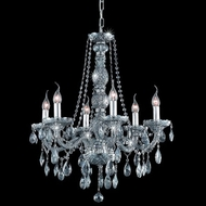 Elegant 7956D24SS-SS-RC Verona Classic Rounded Crystal Drop Silver Shade Lighting Fixture Chandelier