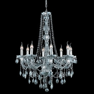 Elegant 7958D28SS-SS-RC Verona Silver Shade Antique Crystal Chandelier with Rounded Crystal Drops