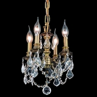 Elegant 9104D10AB-RC Lillie 4 Lamp Traditional Crystal Candle Chandelier Lighting