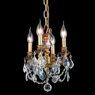 Elegant 9104D10FG-RC Lillie French Gold 10  Clear Crystal Candelabra Chandelier