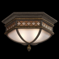 Fine Art Lamps 403082 Chateau 12 inch outdoor flush mount in solid brass