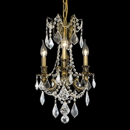 Elegant 9203D13AB-RC Rosalia Clear Crystal Antique Bronze Miniature Chandelier