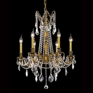 Elegant 9206D23FG-RC Rosalia Vintage 26  Tall Candelabra Chandelier with Clear Crystal Accents