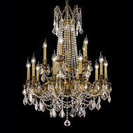 Elegant 9215D28FG-RC Rosalia Crystal Chandelier Lamp with Classic French Gold Finish