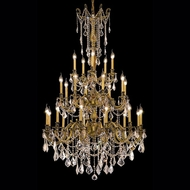 Elegant 9225G38FG-RC Rosalia Classic 25 Candle French Gold Chandelier Light