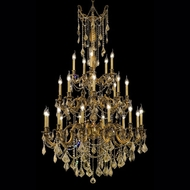 Elegant 9225G38FG-GT-RC Rosalia French Gold 62  Tall Candle Chandelier with Crystals