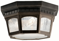 Kichler 9538RZ Courtyard 12 Inch Diameter Flush Mount Classic Ceiling Light Fixture