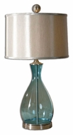 Uttermost 27862-1 Meena 29 Inch Tall Transitional Clear Blue Glass Lamp