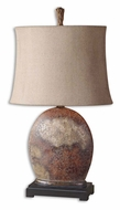 Uttermost 27998-1 Yunu Distressed Rusty Brown Finish 29 Inch Tall Bed Lamp