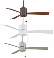 Fanimation Fans FP4640 Zonix Wet-location Ceiling Fan in Oil-rubbed Bronze, Satin Nickel, or White
