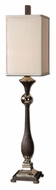 Uttermost 29278-1 Valstrona Textured Rusty Black Finish 41 Inch Tall Large Table Lamp Light