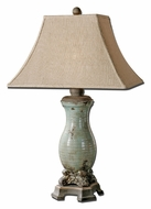Uttermost 27395 Andelle Transitional 31 Inch Tall Ceramic Table Lamp - Light Blue Glaze