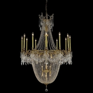 Elegant 9322G40FG-RC Esperanza 22 Lamp Extra Large Crystal Candle Chandelier Light - French Gold