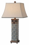 Uttermost 27398 Mincio Textured 30 Inch Tall Transitional Ceramic Table Lamp