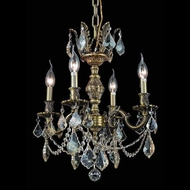 Elegant 9504D17AB-GS-RC Marseille Golden Shadow Crystal 4 Light Chandelier Lamp