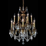 Elegant 9512D24FG-RC Marseille Traditional Candelabra French Chandelier with Clear Crystal Accents