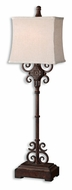 Uttermost 29533-1 Cubero Distressed Rust Brown Finish Antique Table Lamp