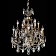 Elegant 9512D24AB-GS-RC Marseille Clear Crystal 12 Light Ceiling Chandelier