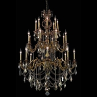 Elegant 9524G38FG-GT-RC Marseille Vintage French Gold Dining Room Chandelier with Golden Teak Crystals