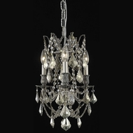 Elegant 9203D13PW-GT-RC Rosalia 3 Lamp Golden Teak Crystal Antique Chandelier