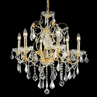 Elegant 2015D24G-RC St. Francis Gold Finish Crystal 6 Light Chandelier Lamp