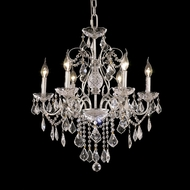 Elegant 2015D24C-RC St. Francis Traditional Hanging Chandelier With Chrome Finish