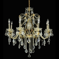 Elegant 2015D26G-RC St. Francis Crystal 8 Light Gold Finish Classic Ceiling Chandelier