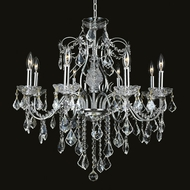Elegant 2015D26C-RC St. Francis Traditional 23  Height Candelabra Chandelier with Chrome Finish
