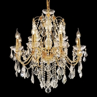 Elegant 2015D28G-RC St. Francis Crystal Traditional Gold Large Chandelier