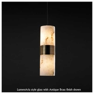 Justice Design 875810 Dakota Small Up and Down Mini Pendant Light with Flat Rim Cylinder Glass
