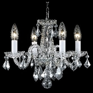 Elegant 7804D15C-RC Rococo 12 Tall Chrome Traditional Chandelier