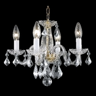 Elegant 7804D15G-RC Rococo Traditional Crystal Candelabra Gold French Chandelier