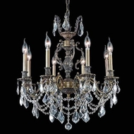Elegant 9508D24AB-RC Marseille 24  Antique Bronze Chandelier with Royal Cut Clear Crystals
