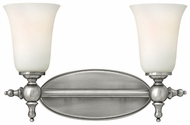 Hinkley 5742AN Yorktown 2-Light Traditional Wall Sconce Lighting - Nickel