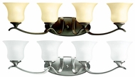 Kichler 10639 Wedgeport 32 Inch Long Transitional Bronze Or Nickel 4 Lamp Bathroom Light