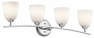 Kichler 45361CH Granby Large 4-lamp Chrome Contemporary Bathroom Light